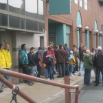 Some of those lined up an hour before the doors opened