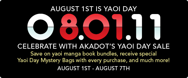 August 1st is Yaoi Day!