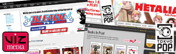 Viz Media and Tokyopop Launch New Websites